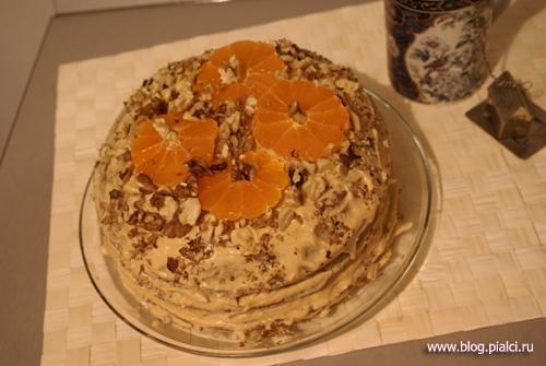 Шоколадный торт к новому году