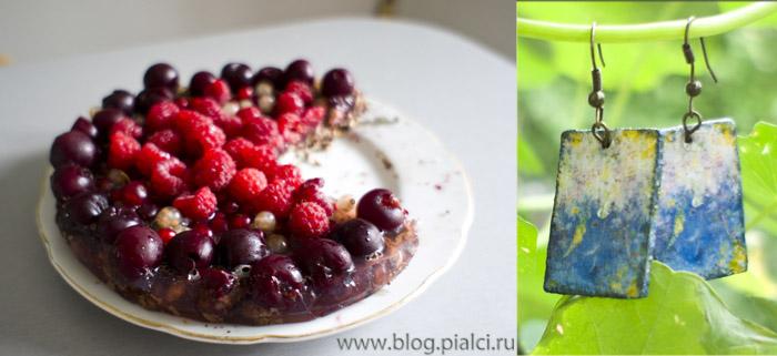Летний фруктовый торт и декупаж
