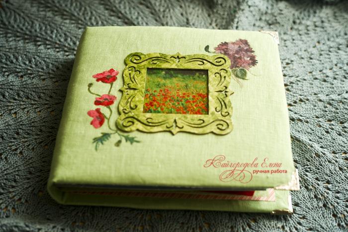 Скрап альбом зеленый беременность